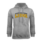 Grey Fleece Hoodie-Arched Southeastern Lions