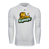 Under Armour White Long Sleeve Tech Tee-Lions w/Lion
