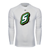 Under Armour White Long Sleeve Tech Tee-S