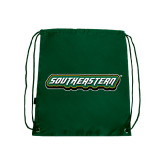 Dark Green Drawstring Backpack-Southeastern