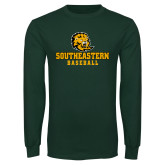 Dark Green Long Sleeve T Shirt-Baseball