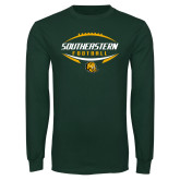 Dark Green Long Sleeve T Shirt-Southeastern Football
