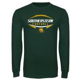 Dark Green Long Sleeve T Shirt-Southeastern Football