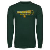 Dark Green Long Sleeve T Shirt-Southeastern Baseball w/ Ball
