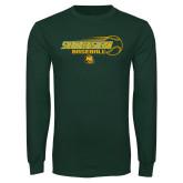Dark Green Long Sleeve T Shirt-Southeastern Baseball w/ Ball