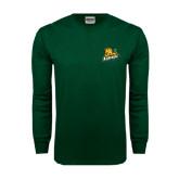 Dark Green Long Sleeve T Shirt-Lions w/Lion