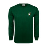 Dark Green Long Sleeve T Shirt-S