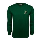 Dark Green Long Sleeve T Shirt-S