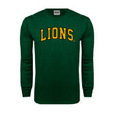 Dark Green Long Sleeve T Shirt-Arched Lions