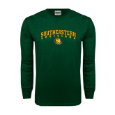 Dark Green Long Sleeve T Shirt-Arched Southeastern Louisiana