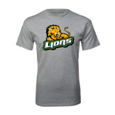 Grey T Shirt-Lions w/Lion