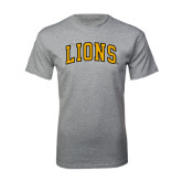 Grey T Shirt-Arched Lions