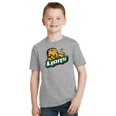 Youth Grey T-Shirt-Lions w/Lion