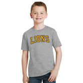 Youth Grey T-Shirt-Arched Lions