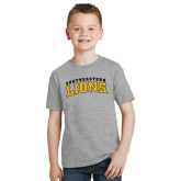 Youth Grey T-Shirt-Arched Southeastern Lions