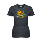 Ladies Dark Heather T Shirt-Official Logo