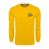 Gold Long Sleeve T Shirt-Lions w/Lion