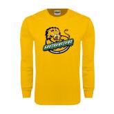 Gold Long Sleeve T Shirt-Official Logo