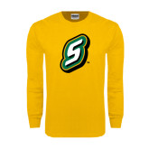 Gold Long Sleeve T Shirt-S
