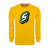 Gold Long Sleeve T Shirt-S
