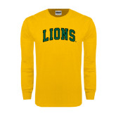 Gold Long Sleeve T Shirt-Arched Lions