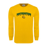 Gold Long Sleeve T Shirt-Arched Southeastern Louisiana