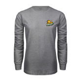 Grey Long Sleeve T Shirt-Lions w/Lion