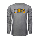 Grey Long Sleeve T Shirt-Arched Lions