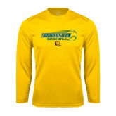 Syntrel Performance Gold Longsleeve Shirt-Southeastern Baseball w/ Ball