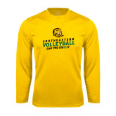 Syntrel Performance Gold Longsleeve Shirt-Volleyball Can You Dig It