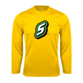 Syntrel Performance Gold Longsleeve Shirt-S