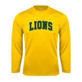Performance Gold Longsleeve Shirt-Arched Lions