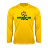 Performance Gold Longsleeve Shirt-Alumni