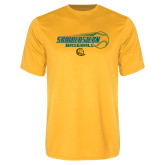 Syntrel Performance Gold Tee-Southeastern Baseball w/ Ball