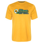 Syntrel Performance Gold Tee-Lions Softball Script w/ Ball