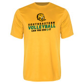 Performance Gold Tee-Volleyball Can You Dig It
