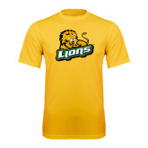 Performance Gold Tee-Lions w/Lion