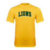 Performance Gold Tee-Arched Lions