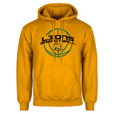 Gold Fleece Hoodie-Lions Basketball w/ Ball