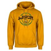 Gold Fleece Hoodie-Lions Basketball w/ Ball