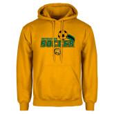Gold Fleece Hoodie-Southeastern Soccer Swoosh w/ Ball