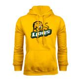 Gold Fleece Hoodie-Lions w/Lion