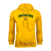 Gold Fleece Hoodie-Arched Southeastern Louisiana