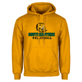 Gold Fleece Hoodie-Volleyball