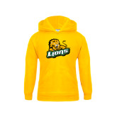 Youth Gold Fleece Hoodie-Lions w/Lion