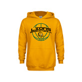 Youth Gold Fleece Hoodie-Lions Basketball w/ Ball