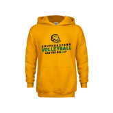 Youth Gold Fleece Hoodie-Volleyball Can You Dig It