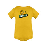 Gold Infant Onesie-Lions w/Lion