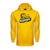 Under Armour Gold Performance Sweats Team Hoodie-Lions w/Lion