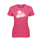 Ladies Fuchsia T Shirt-Lions w/Lion